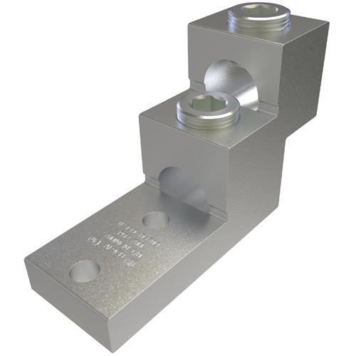 """ILSCO PB2-750 MECHANICAL 2-COND.LUG 1/0-750MCM 3/8"""" 2 HOLE"""