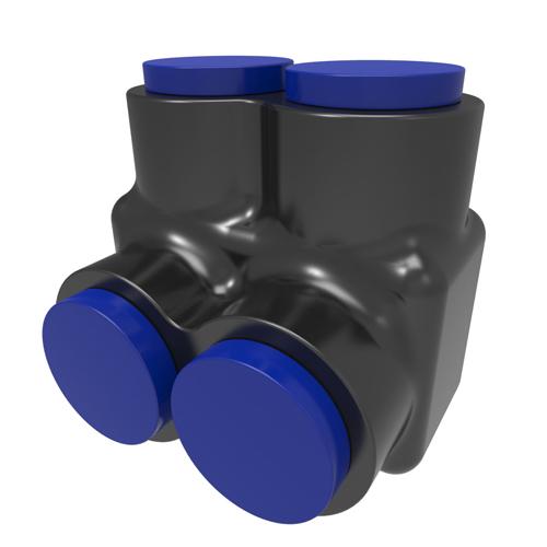 ILSCO PBTS-2-250-F INS (2)250-6,4/0FX,2/0M,3/0DLO TUL CSA